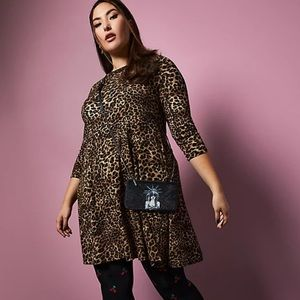 NWT Torrid Betsey Johnson Leopard Skater Dress